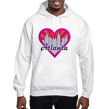 Atlanta Skyline Sunburst Heart Hoodie