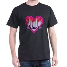 Atlanta Skyline Sunburst Heart T-Shirt