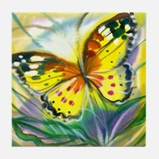 Butterfly Canvas Painting Tile Coaster