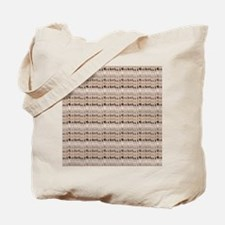 Coffee and Cream Abstract Tote Bag
