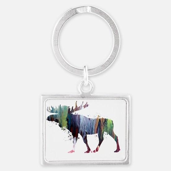 Moose for women Landscape Keychain
