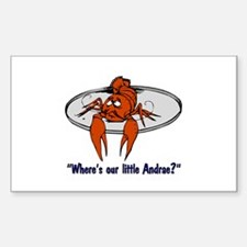"""Where's Our Little Andrae?"" Rectangle Decal"