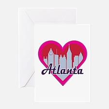 Atlanta Skyline Heart Greeting Cards