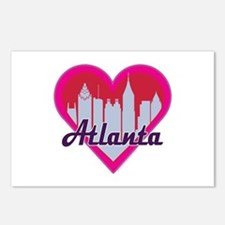 Atlanta Skyline Heart Postcards (Package of 8)