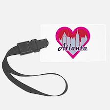Atlanta Skyline Heart Luggage Tag