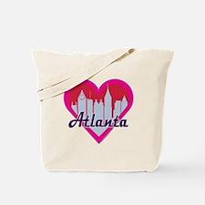 Atlanta Skyline Heart Tote Bag