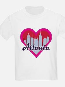 Atlanta Skyline Heart T-Shirt