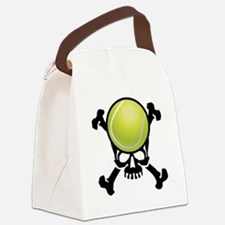 Tennis Skull Canvas Lunch Bag