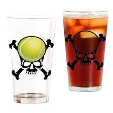Tennis Skull Drinking Glass