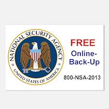NSA Online Backup Postcards (Package of 8)