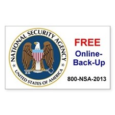 NSA Online Backup Decal