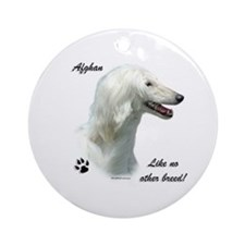 Afghan Breed Ornament (Round)