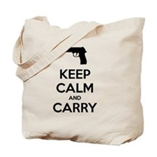 Keep Calm and Carry - Black Tote Bag