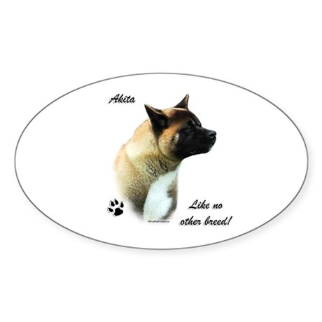 Akita Breed Oval Sticker
