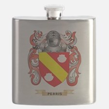 Perris Coat of Arms (Family Crest) Flask