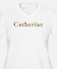 Catherine Bright Flowers Plus Size T-Shirt