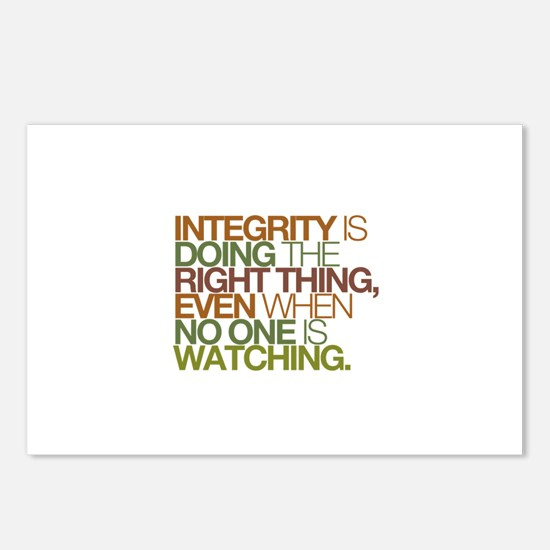 Integrity is doing the right thing, even when no P