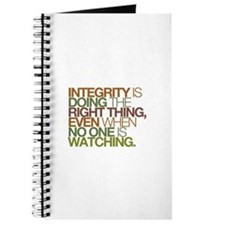 Integrity is doing the right thing, even when no J