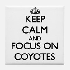 Keep calm and focus on Coyotes Tile Coaster