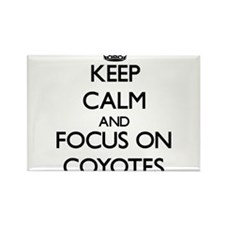 Keep calm and focus on Coyotes Magnets