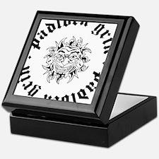 Padlock Grin Black Sun Logo Keepsake Box