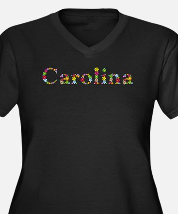 Carolina Bright Flowers Plus Size T-Shirt