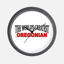 """The World's Greatest Oregonian"" Wall Clock"
