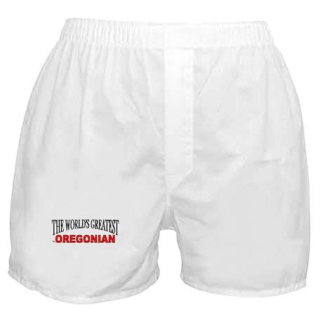 """The World's Greatest Oregonian"" Boxer Shorts"