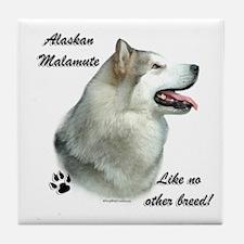 Malamute Breed Tile Coaster