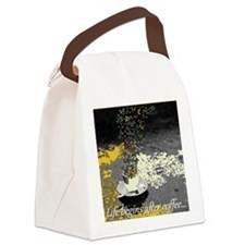 Life Begins After Coffee Canvas Lunch Bag