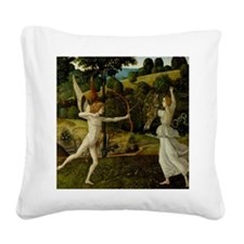 Combat love chastity cupito p Square Canvas Pillow