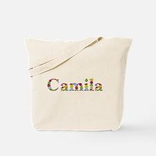 Camila Bright Flowers Tote Bag