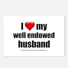 I Love My Well Endowed Husband lightapparel Postca