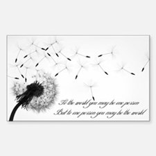 Dandelion Inspiration 2 Decal