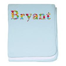 Bryant Bright Flowers baby blanket