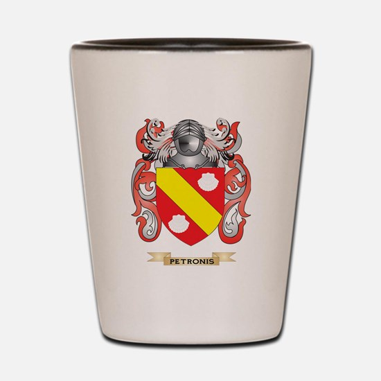 Petronis Coat of Arms (Family Crest) Shot Glass