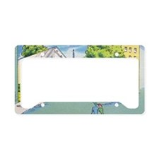 The Pit Lounge License Plate Holder