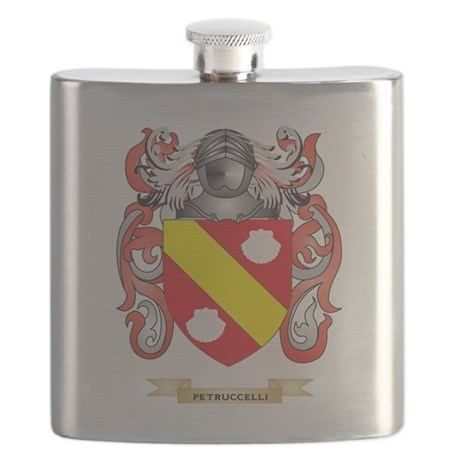 Petruccelli Coat of Arms (Family Crest) Flask