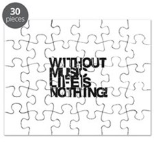 without music life is nothing Puzzle