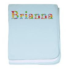 Brianna Bright Flowers baby blanket