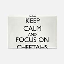 Keep calm and focus on Cheetahs Magnets