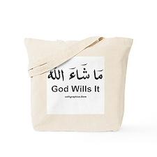 God Wills It - Masha'Allah Arabic Tote Bag