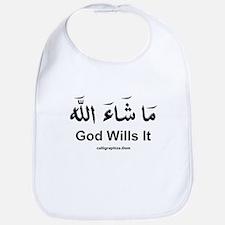 God Wills It - Masha'Allah Arabic Bib