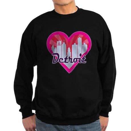 Detroit Skyline Sunburst Heart Sweatshirt
