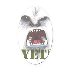 Yeti PB  Oval Car Magnet