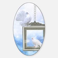 Peace Dove 2 Sticker (Oval)