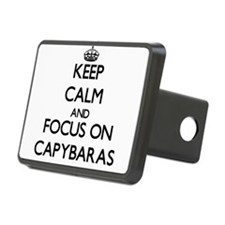 Keep calm and focus on Capybaras Hitch Cover