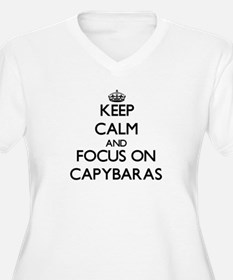 Keep calm and focus on Capybaras Plus Size T-Shirt