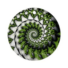 Grinder Lime Round Ornament