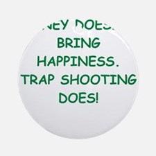 trap shooting Ornament (Round)